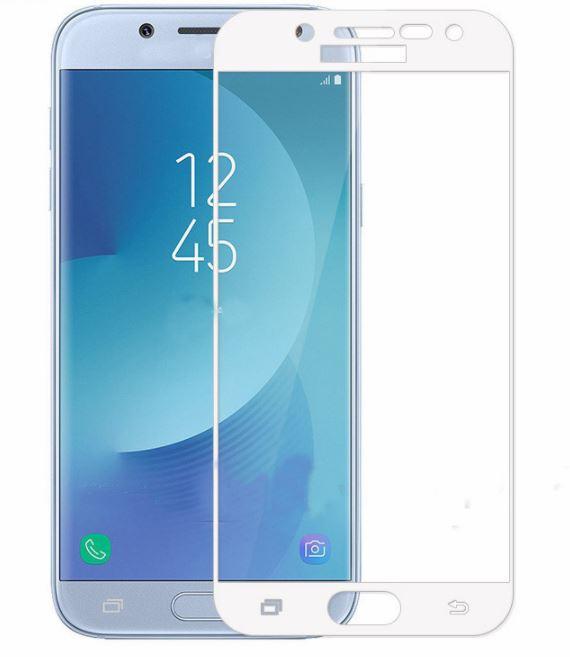 Ochranné sklo Full Glass pro Samsung Galaxy J5 (2017) na celý displej - bílé (Tvrzenné ochranné 2,5D full face sklo Samsung Galaxy J5 (2017) - tempered glass white)