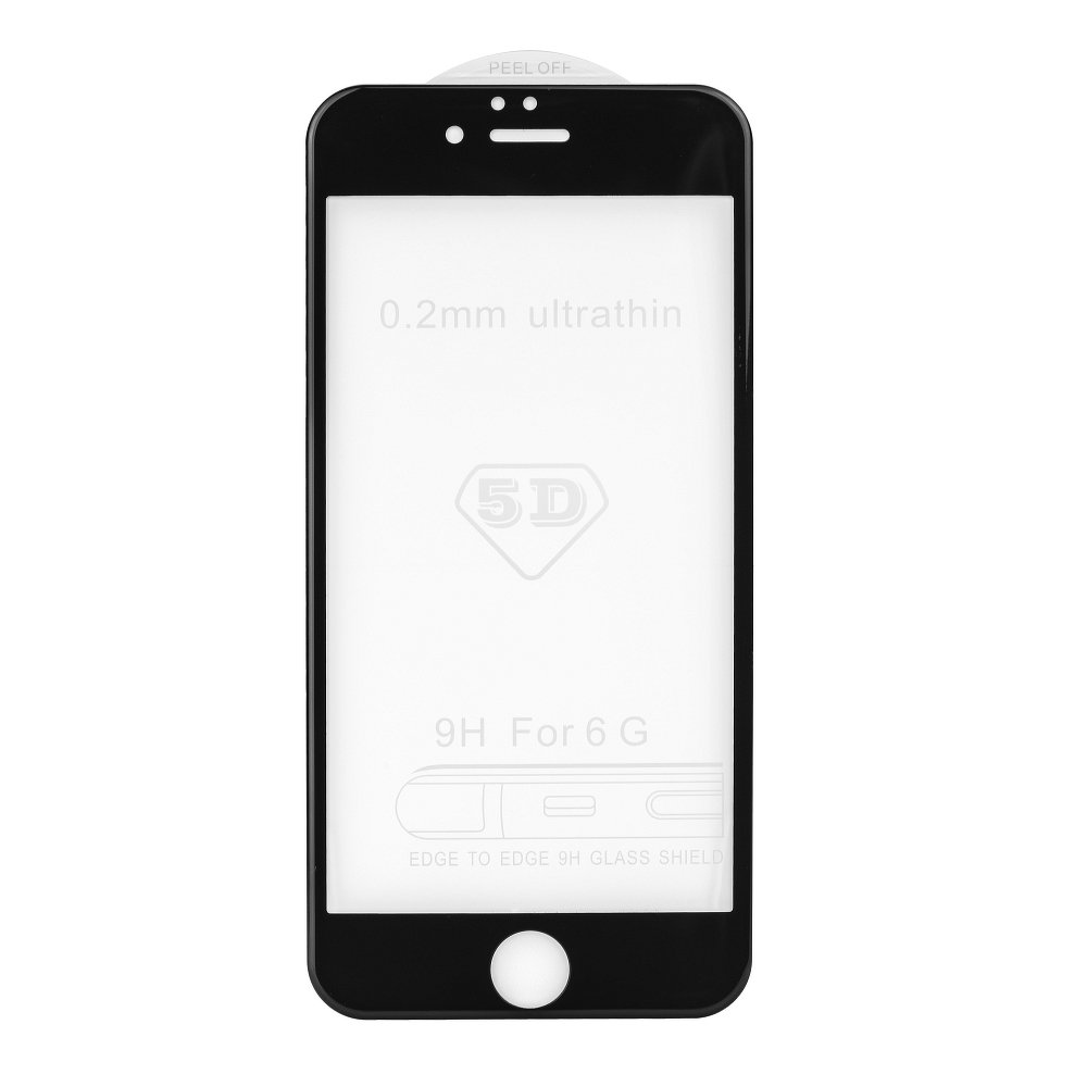 Ochranné temperované tvrzené sklo pro Apple iPhone 7 / 8 - 5D - černé (Tvrzenné ochranné sklo Apple iPhone 7 / Apple iPhone 8)