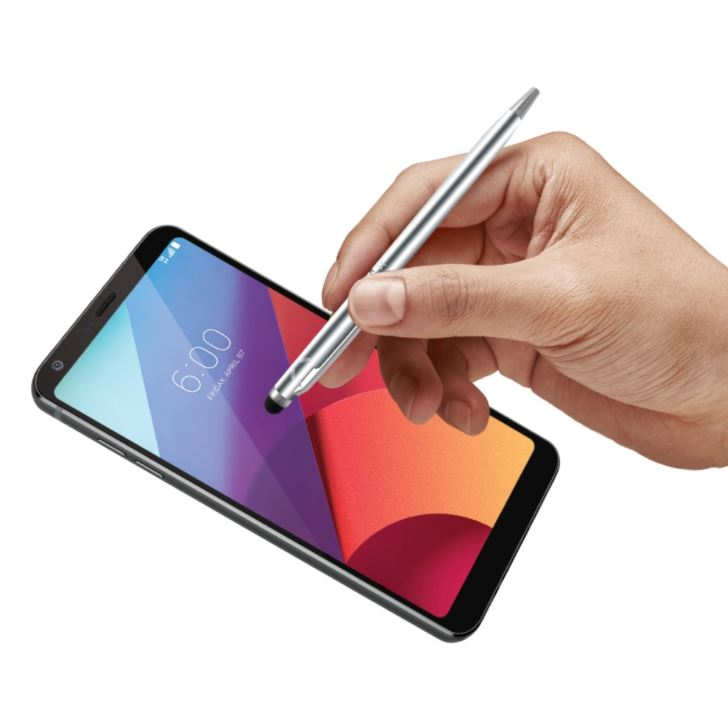 Psací pero 2v1 se stylusem pro dotykové displeje FIXED Pen2, stříbrné (Kapacitní stylus pro tablety, mobily a jiná zařízení s kapacitním displejem + psaví pero Fixed)