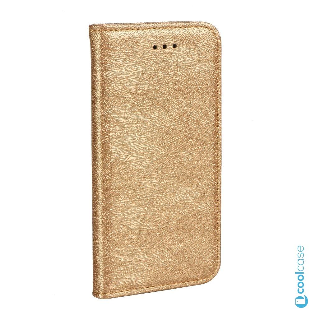 Třpytivé flip pouzdro Magic Book na mobil Sony Xperia L1 Zlatavé (Flipové knížkové vyklápěcí třpytící se Magic pouzdro na mobilní telefon Sony Xperia L1 Zlatavé)