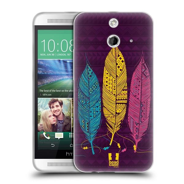 Silikonové pouzdro na mobil HTC ONE E8 HEAD CASE AZTEC PÍRKA 3 BAREV (Silikonový kryt či obal na mobilní telefon HTC ONE E8)