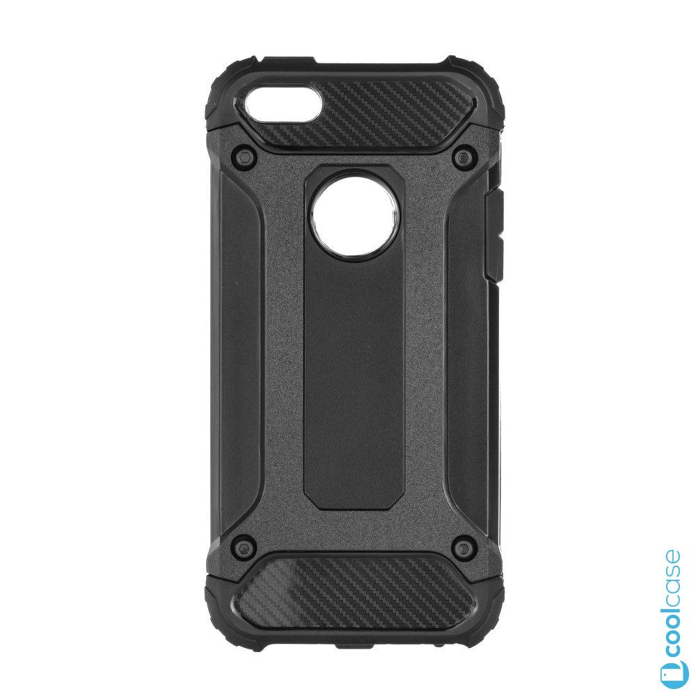 Odolné pouzdro Forcell Armor na mobilní telefon Apple iPhone 5   5S   SE  Černé 9436154192d