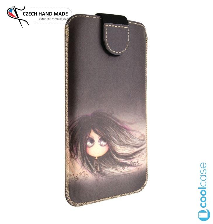 Univerzální kapsičkové pouzdro FIXED Soft Slim pro mobily, vel. 5XL+, Antonie (Univerzální pouzdro či kryt s vysouváním typu kapsička pro telefony s rozměry do 154 × 77 × 9,2 mm, velikost 5XL+,s Dušinkami, motiv Antonie)