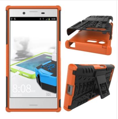 Odolné pouzdro PANZER CASE NEO na mobilní telefon Sony Xperia X Compact Oranžové
