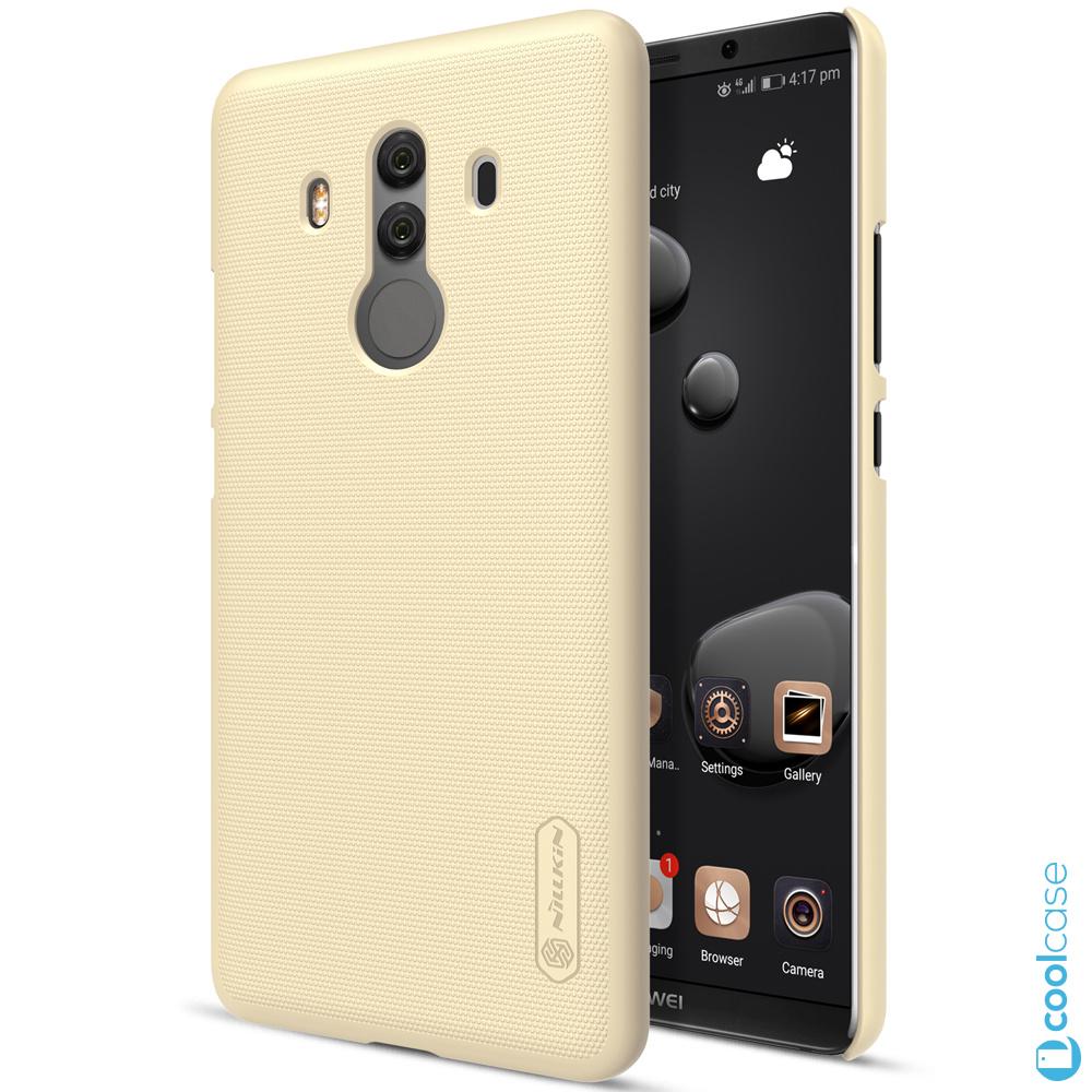Plastové pouzdro Nillkin Super Frosted na mobil Huawei Mate 10 Pro zlaté + fólie