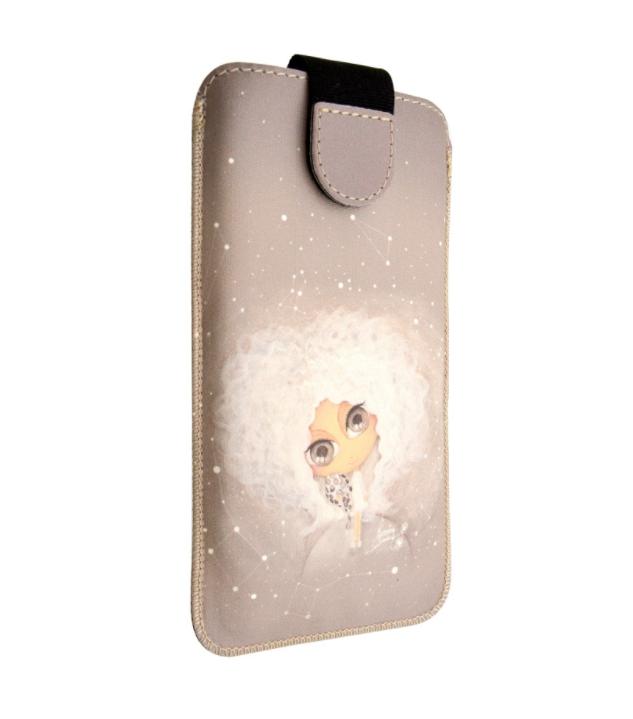 Univerzální kapsičkové pouzdro FIXED Soft Slim pro mobily, vel. 5XL+, Kateřina (Univerzální pouzdro či kryt s vysouváním typu kapsička pro telefony s rozměry do 154 × 77 × 9,2 mm, velikost 5XL+,s Dušinkami, motiv Kateřina)
