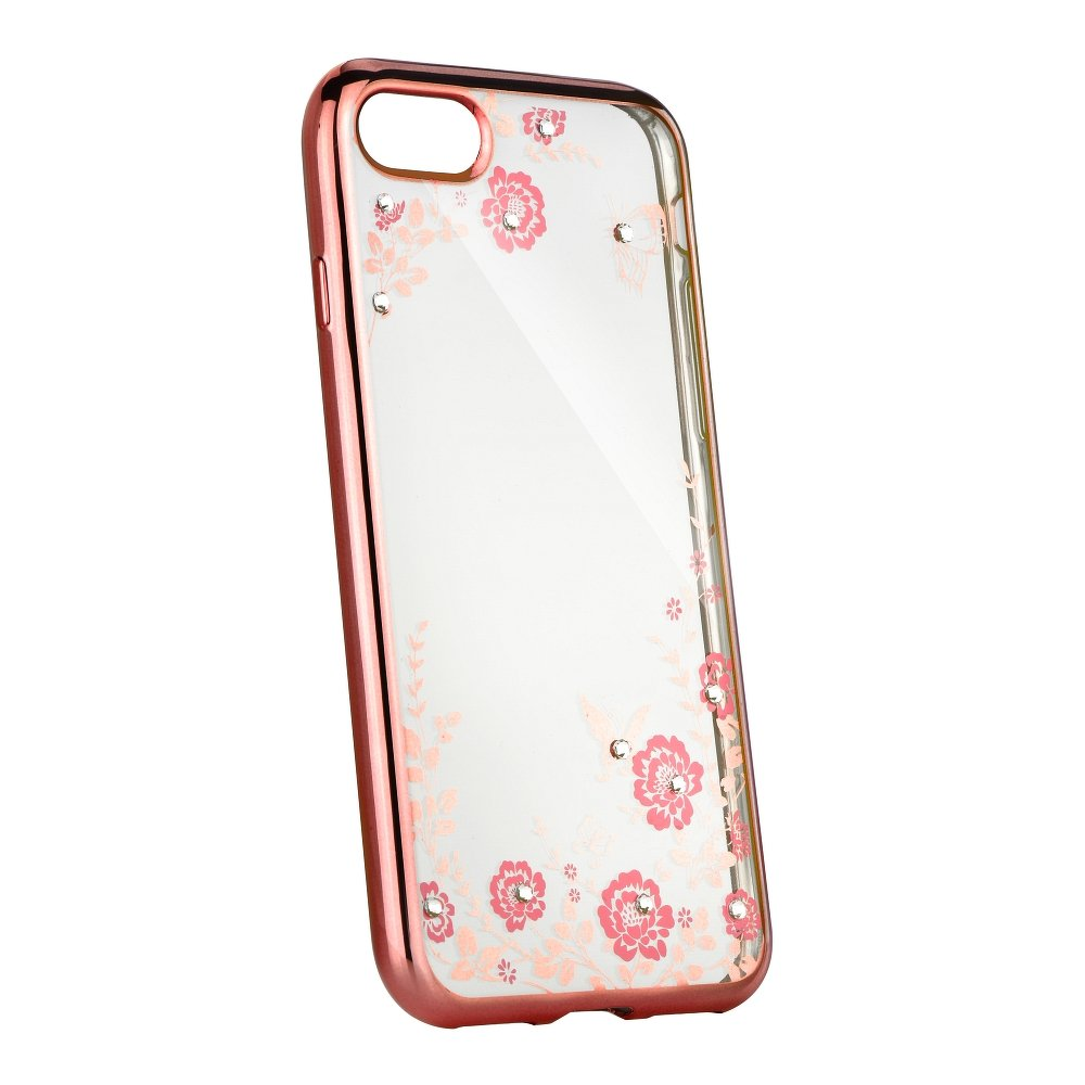 Silikonové pouzdro Forcell Diamond na mobil Apple iPhone 5 a 5S Pink