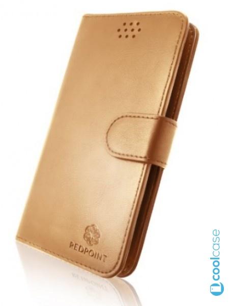 """Univerzální pouzdro RedPoint Book velikost 3XL pro mobily 4""""-4,6"""" Zlaté"""
