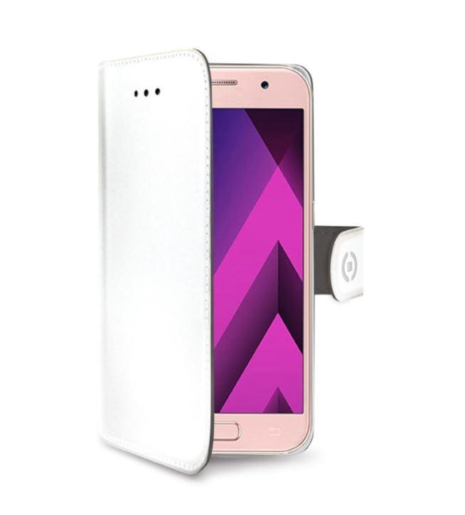 Vyklápěcí flip pouzdro CELLY Wally na mobil Samsung Galaxy A8+ Plus (2018) Bílé (Flipové knížkové vyklápěcí pouzdro CELLY Wally na mobilní telefon Samsung Galaxy A8 Plus (2018) Bílé)