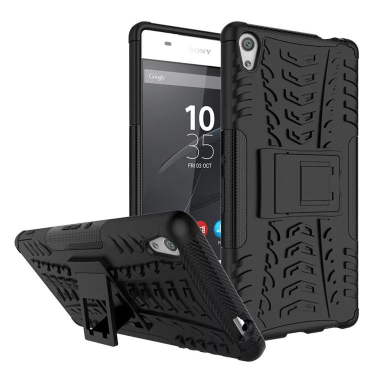 Odolné pouzdro PANZER CASE NEO na mobilní telefon Sony Xperia E5 Černé