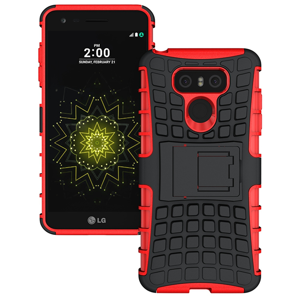 Odolné pouzdro PANZER CASE na mobilní telefon LG G6 Červené