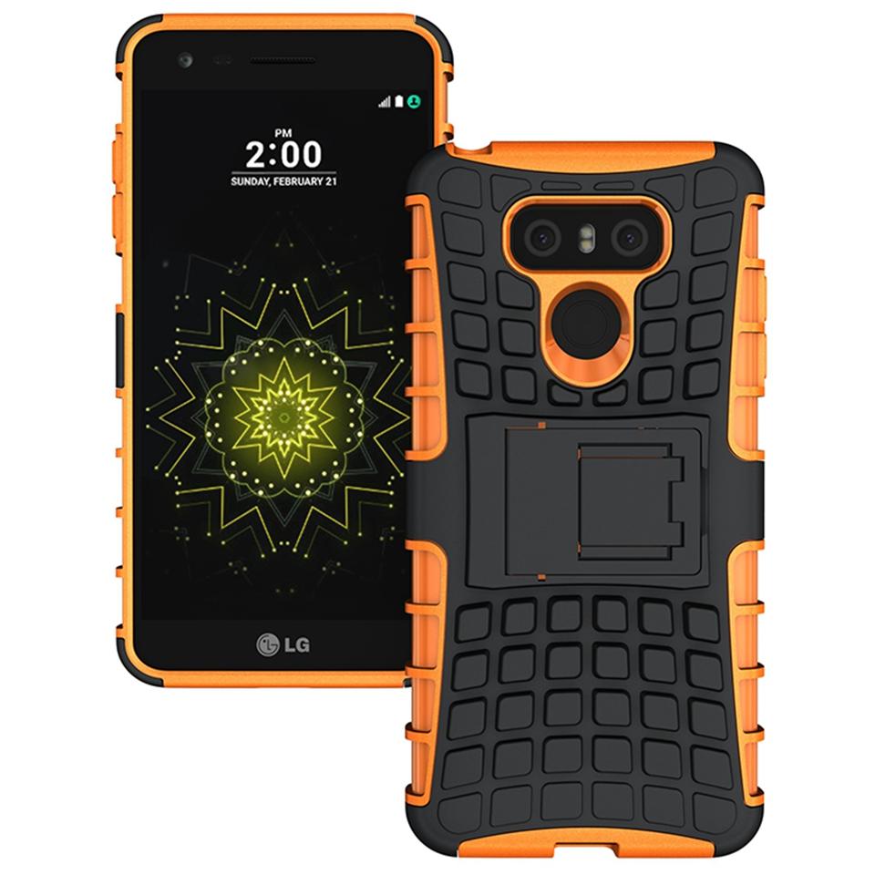 Odolné pouzdro PANZER CASE na mobilní telefon LG G6 Oranžové