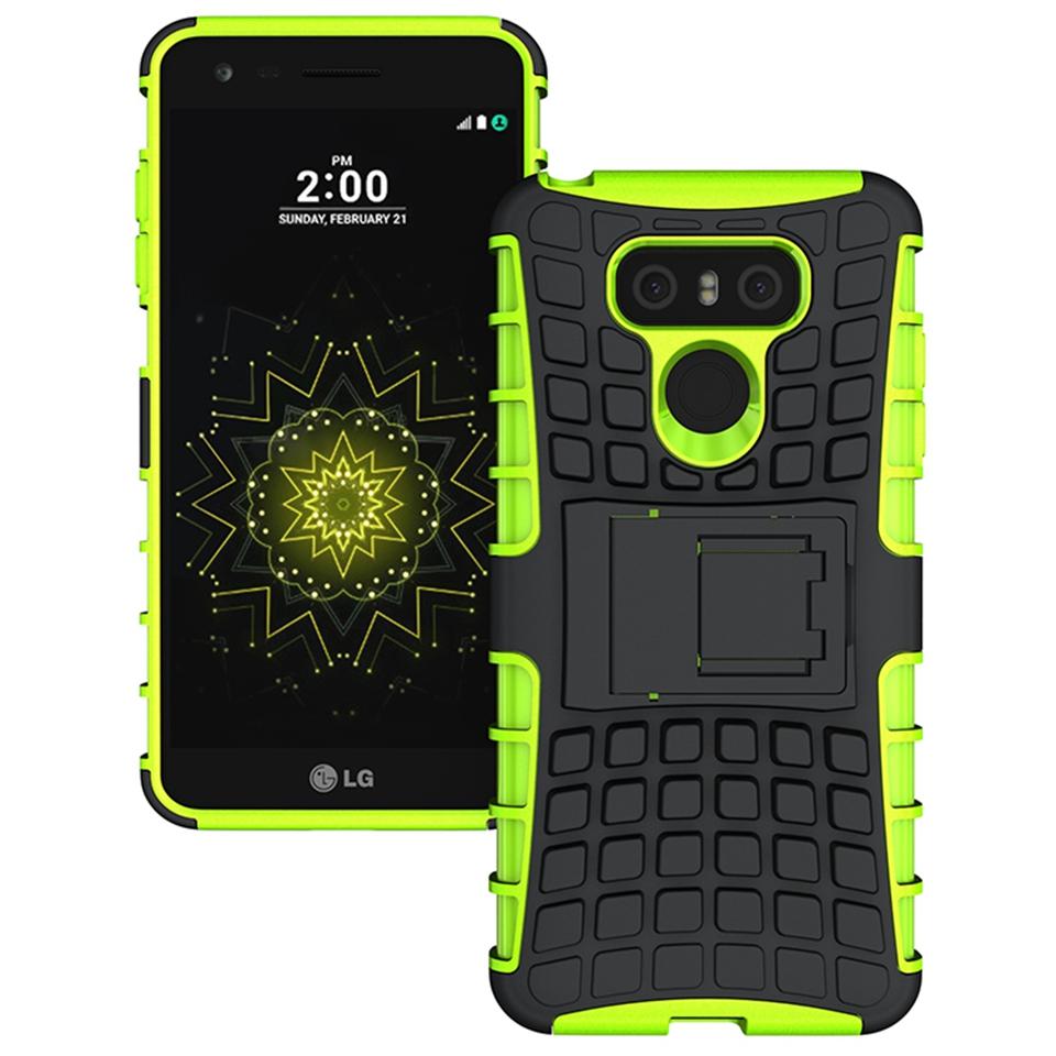 Odolné pouzdro PANZER CASE na mobilní telefon LG G6 Zelené