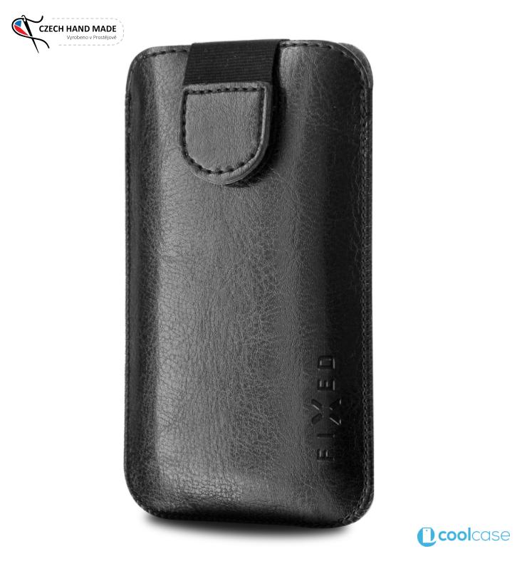 Univerzální kapsičkový obal FIXED Soft Slim na mobily, vel. 5XL+, černé (Univerzální pouzdro či kryt s vysouváním typu kapsička pro telefony s rozměry do 154 × 77 × 9,2 mm, velikost 5XL+, černé)
