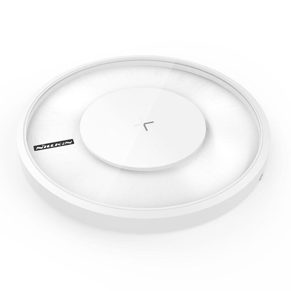 Podložka pro rychlé bezdrátové Qi dobíjení Nillkin Magic Disc 4 White - bezdrátová nabíječka (Nillkin Magic Disc 4 Rychlý Bezdrátový Dobíječ White (EU Blister))
