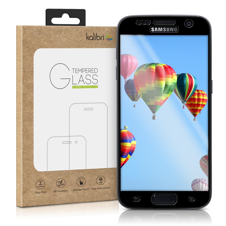 Ochranné tvrzené 3D sklo Kalibri pro SAMSUNG GALAXY S7 na celý displej - černé (Tvrzenné ochranné sklo Kalibri na celý displej Samsung Galaxy S7)