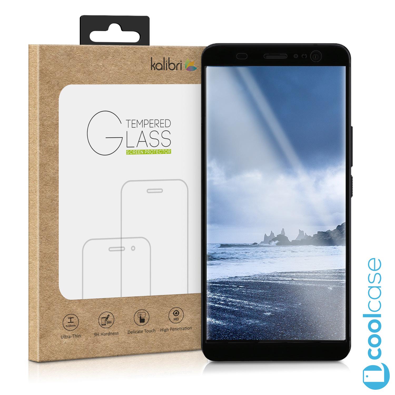 Ochranné tvrzené sklo Kalibri na celý displej mobilu HTC U11 Plus černé 5d2c74312fe