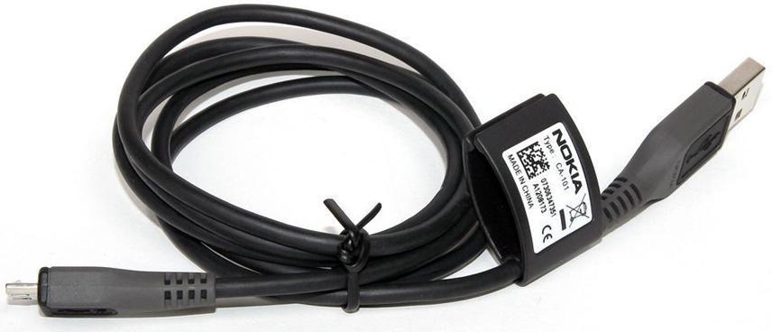 Originální datový kabel s konektorem Micro USB Nokia CA-101 1,2m (Micro USB Datový kabel Nokia CA-101)