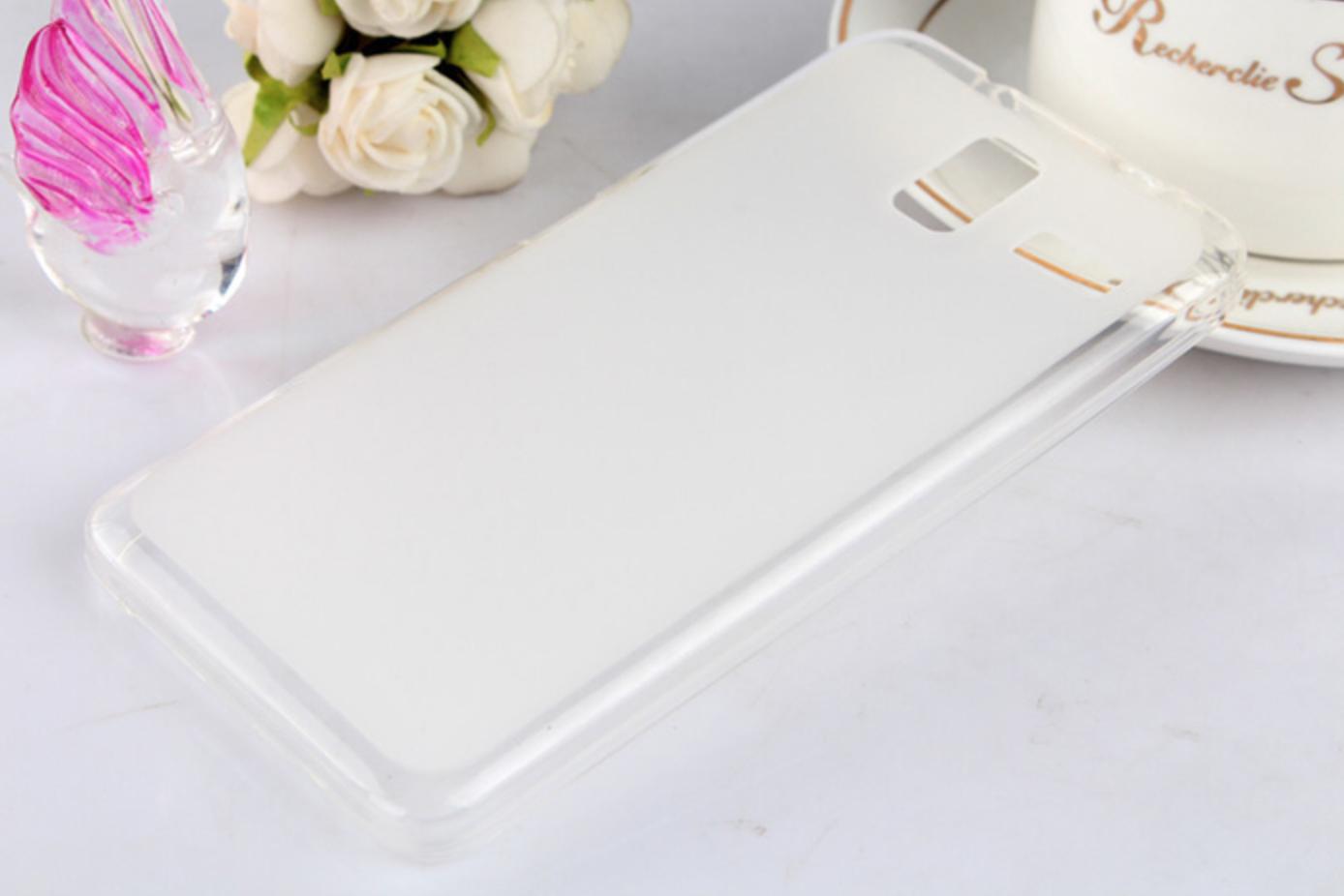 Silikonové pouzdro na mobilní telefon Lenovo S580 Dual Sim světlé (Silikonový kryt či obal na mobilní telefon Lenovo S580 Dual Sim)