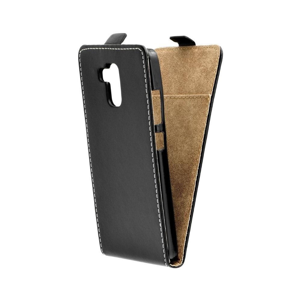 Vertikální flipové pouzdro FLEXI FRESH pro LG G7 ThinQ Černé (Flipové vertikální vyklápěcí pouzdro na mobilní telefon LG G7 ThinQ)