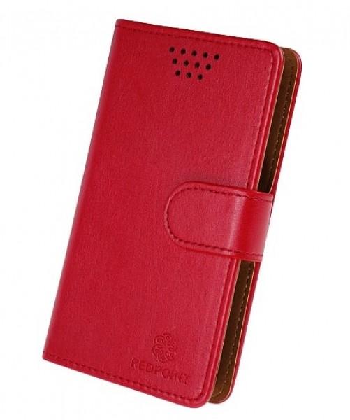 """Univerzální pouzdro RedPoint Book velikost 3XL pro mobily 4""""-4,6"""" Červené (Pouzdro RedPoint Book Universal velikost 3XL 4""""-4,6"""" Červené)"""