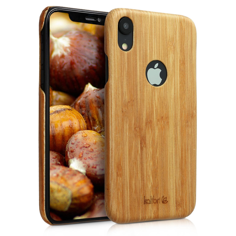 Bambusové pouzdro KWmobile na mobil Apple iPhone XR  bc176000185