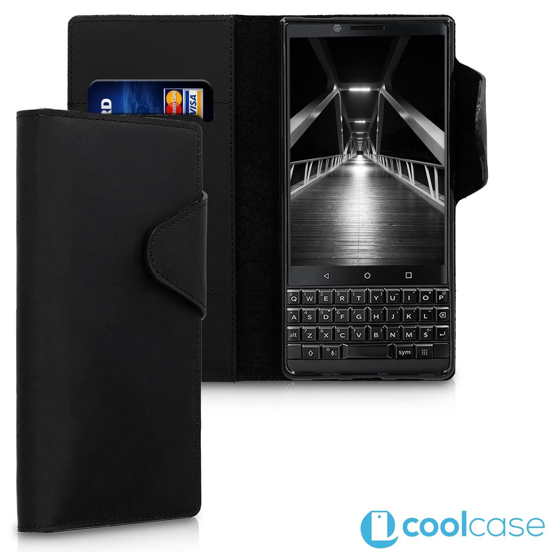 Prémiové kožené flip pouzdro Kalibri na BlackBerry KEYtwo Černé (Kožený  flip kryt či obal Kalibri b89e4850577