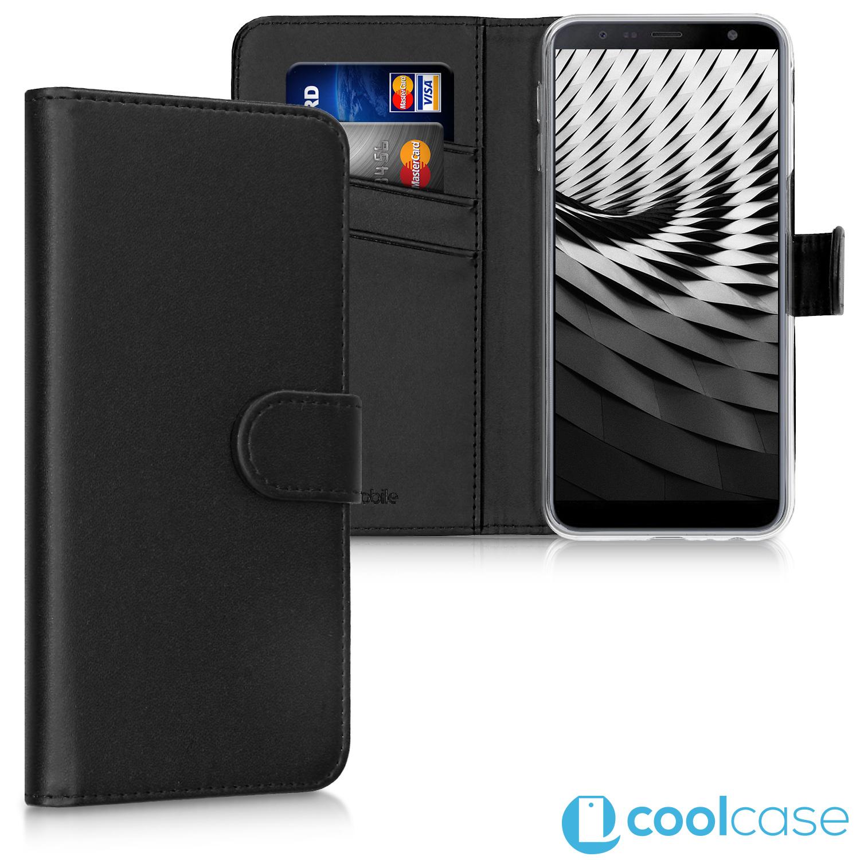 Flipové pouzdro KWmobile Wallet na Samsung Galaxy J6 Plus Černé ... c9793804632