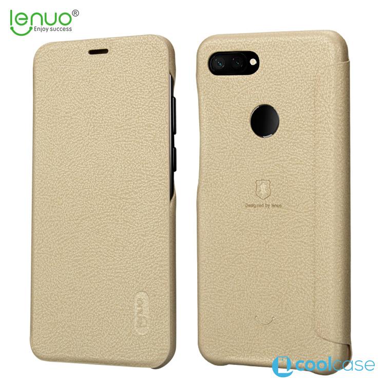 Flipové pouzdro Lenuo Ledream na mobil Xiaomi Mi 8 Lite Zlatavé ... 7e320840ccf