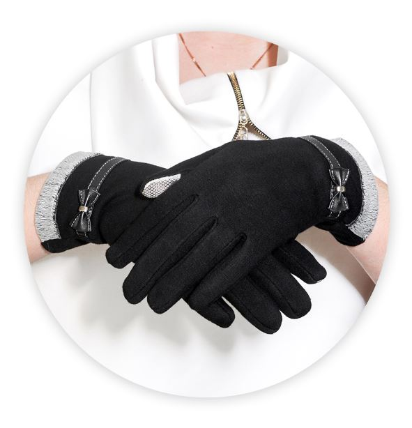 Rukavice na dotykový displej mobilu BOW Dámské - černé  7abc3159b4