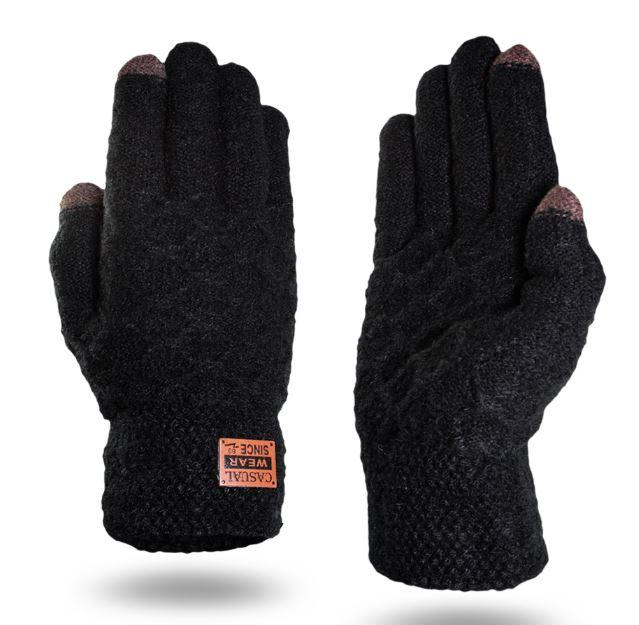 Rukavice na dotykový displej mobilu TOUCH GLOVES MEN pánské - černé ... c5bb20629d