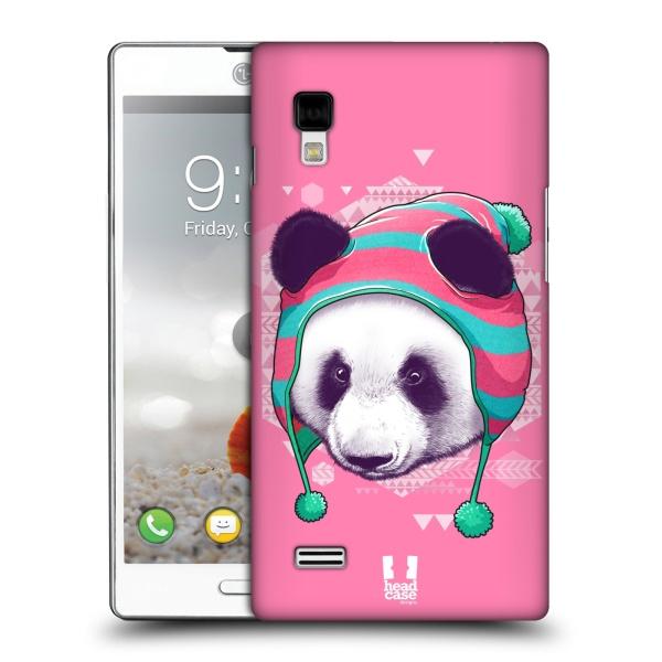 Plastové pouzdro na mobil LG Optimus L9 P760 HEAD CASE HIPSTR PANDA (Kryt či obal na mobilní telefon LG Optimus L9 P760)