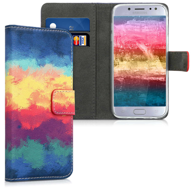 Flipové pouzdro KWmobile Chic Wallet na Samsung Galaxy J5 (2017) Barvičky 1c86f92ca57