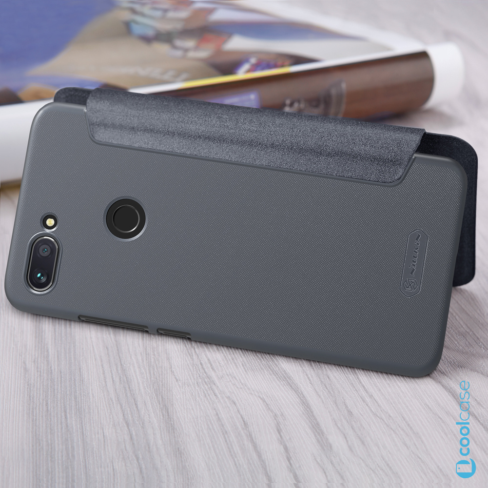 Flipové pouzdro Nillkin Sparkle Folio na mobil Xiaomi Mi 8 Lite šedé ... 8d0101cbea