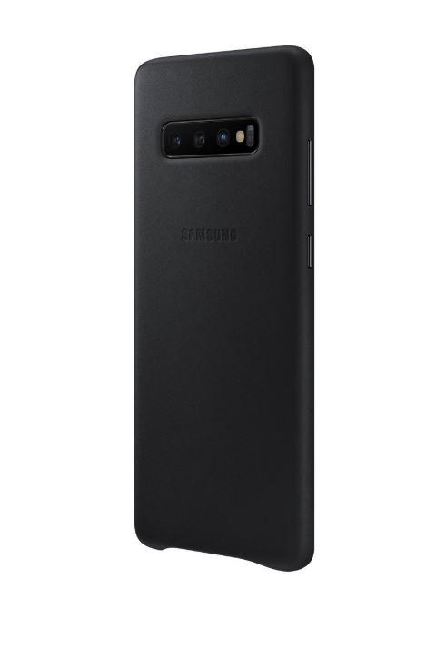 Originální kožené pouzdro EF-VG975LBE Leather Cover pro Samsung Galaxy S10 Plus černé (EF-VG975LBE Samsung Leather Cover Black pro SM-G975 Galaxy S10 Plus (EU Blister))