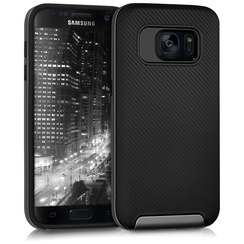 Odolné pouzdro KWmobile HYBRID na mobil Samsung Galaxy S7 Black / Grey (Odolný kryt či obal KWmobile na mobil Samsung Galaxy S7 Black / Grey)