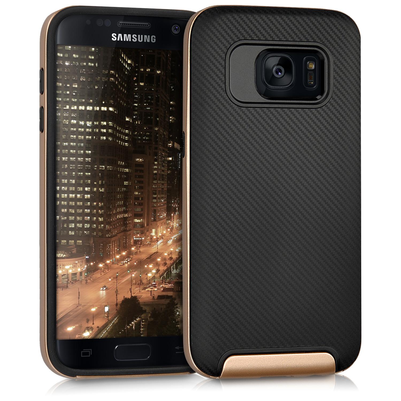 Odolné pouzdro KWmobile HYBRID na mobil Samsung Galaxy S7 Black / Gold (Odolný kryt či obal KWmobile na mobil Samsung Galaxy S7 Black / Gold)