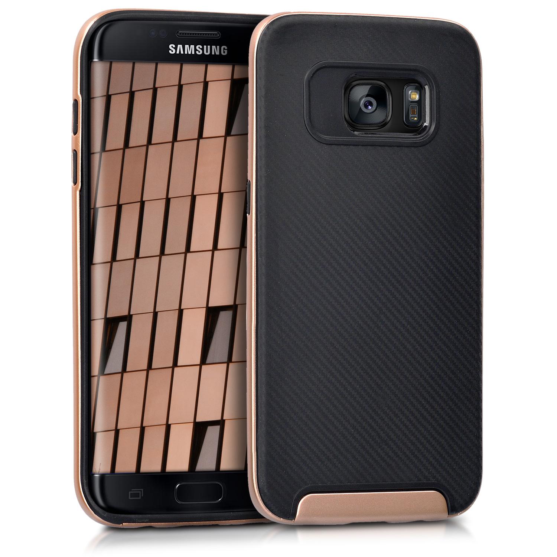 Odolné pouzdro KWmobile HYBRID na mobil Samsung Galaxy S7 Edge Black / Gold (Odolný kryt či obal KWmobile na mobil Samsung Galaxy S7 Edge Black / Gold)