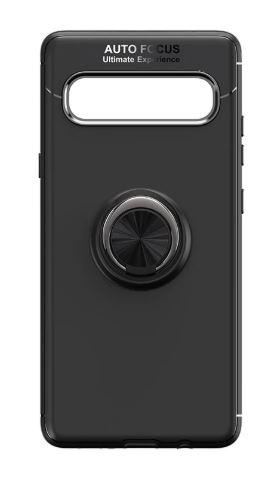Silikonové pouzdro Forcell RING na mobil Samsung Galaxy S10 Plus černé (Silikonový kryt či obal Forcell RING na mobil Samsung Galaxy S10+ černý)