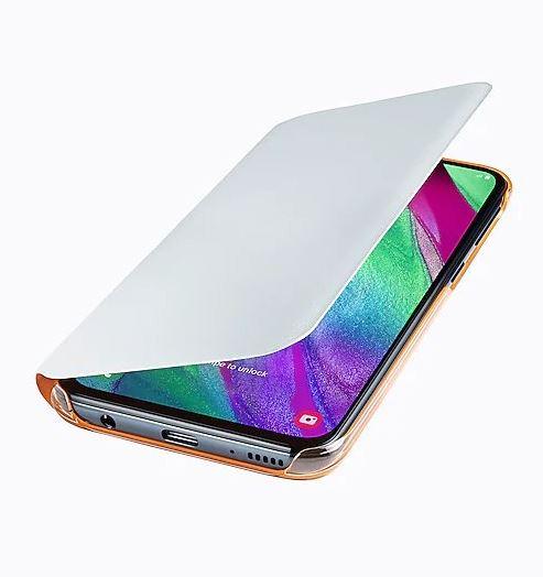 Originální flip pouzdro EF-WA405PWE na mobil Samsung Galaxy A40 bílé (EF-WA405PWE Samsung Wallet Pouzdro pro Galaxy A40 White (EU Blister))