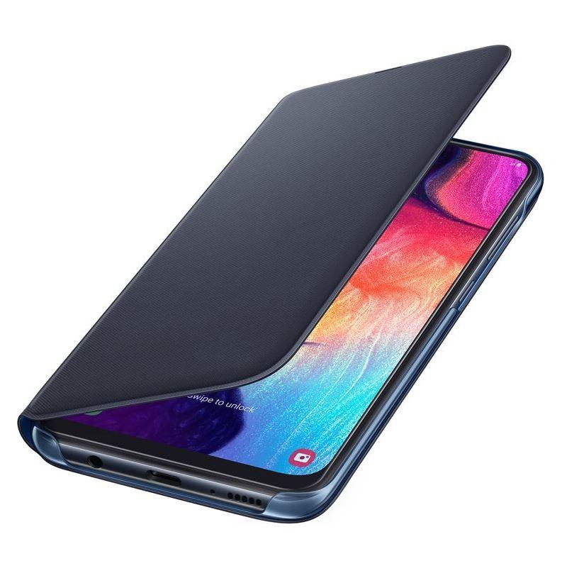 Originální flip pouzdro EF-WA505PBE na mobil Samsung Galaxy A50 / A30s černé (EF-WA505PBE Samsung Wallet Pouzdro pro Galaxy A50 black (EU Blister))