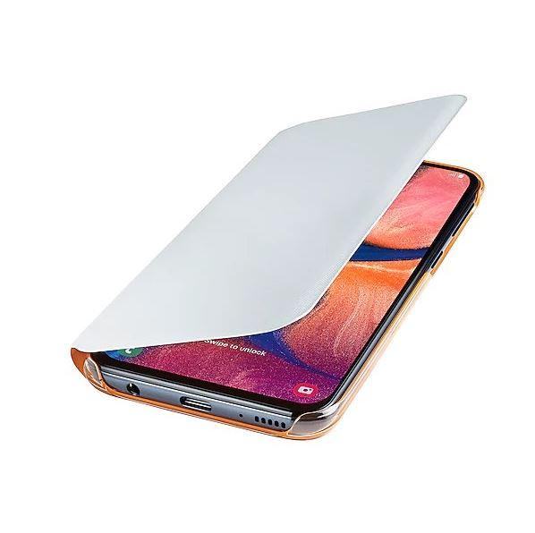 Originální flip pouzdro EF-WA202PWE na mobil Samsung Galaxy A20e bílé (EF-WA202PWE Samsung Wallet Pouzdro pro Galaxy A20e White (EU Blister))