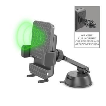 Univerzální držák do auta s bezdrátovým nabíjením CELLY Mount Charge pro mobilní telefony, černý (Univerzální držák mobilního telefonu s bezdrátovým nabíjením CELLY Mount Charge, černý)
