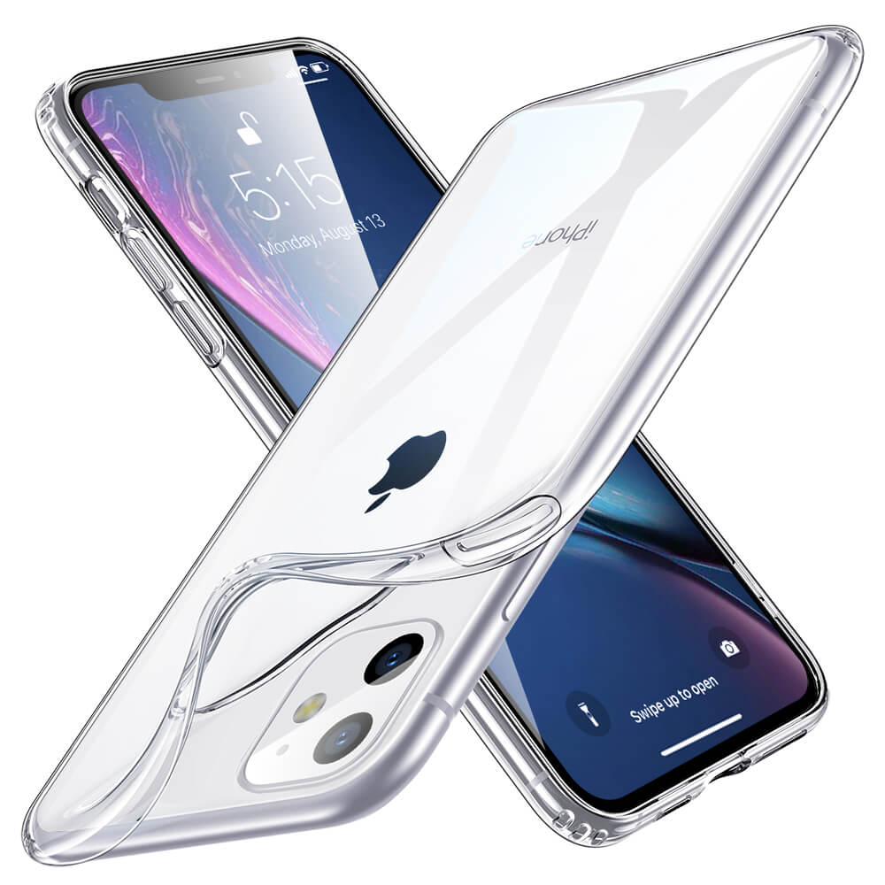 Odolné silikonové pouzdro ESR Ice Shield na mobil Apple iPhone 11 Čiré