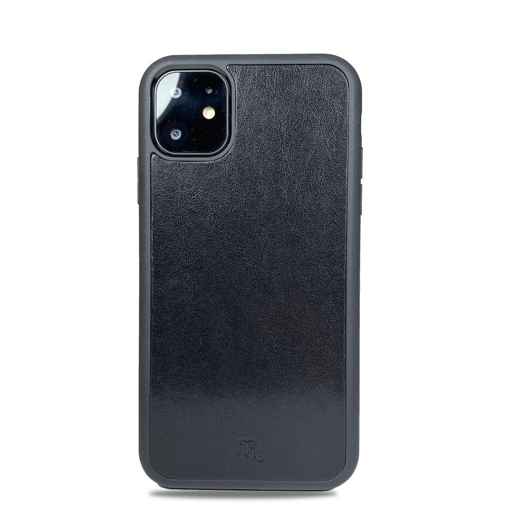 Kožený odolnější obal Lemory PROTECT na mobil Apple iPhone 11, Černý