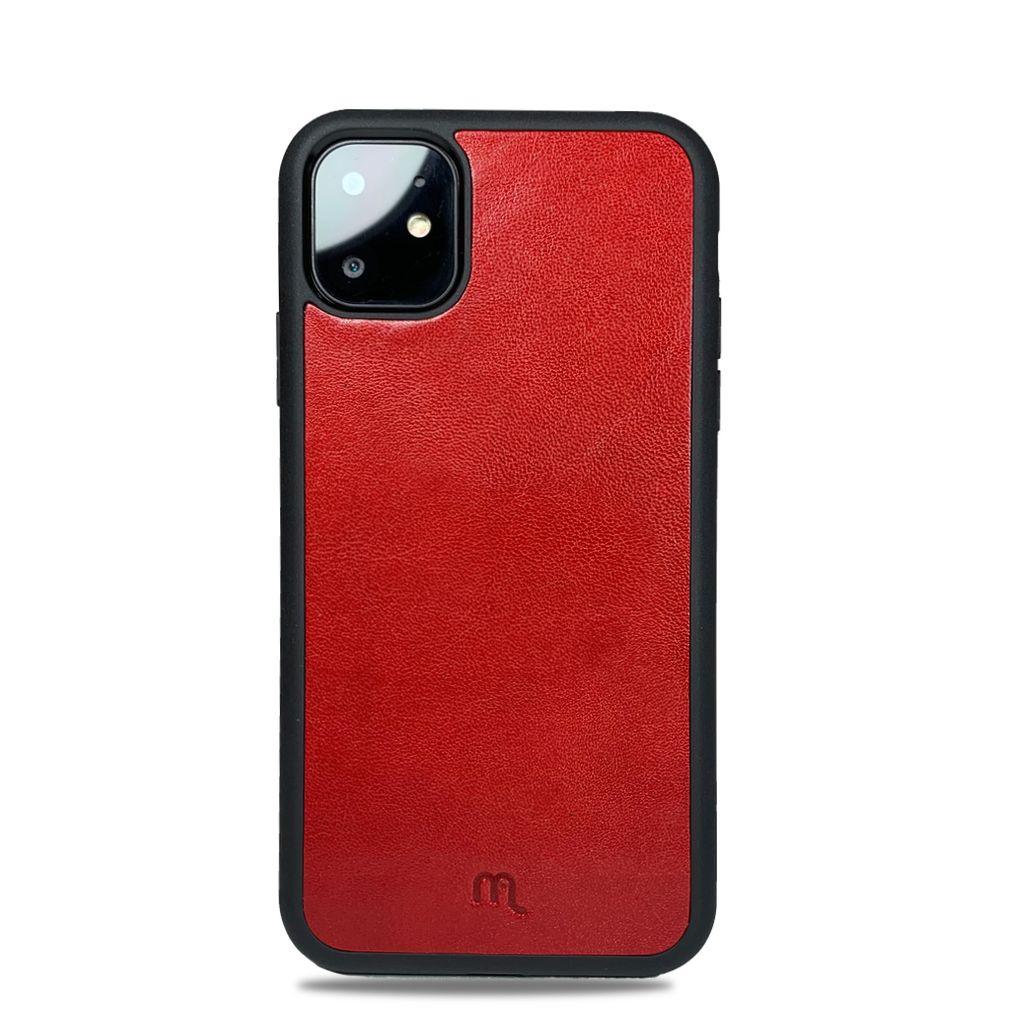 Kožený odolnější obal Lemory PROTECT na mobil Apple iPhone 11, Červený