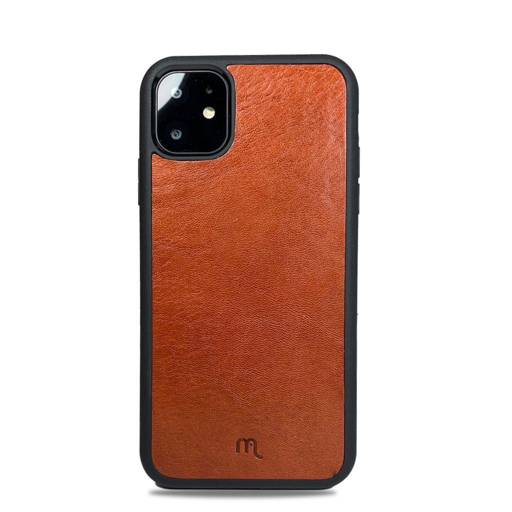 Kožený odolnější obal Lemory PROTECT na mobil Apple iPhone 11, Hnědý