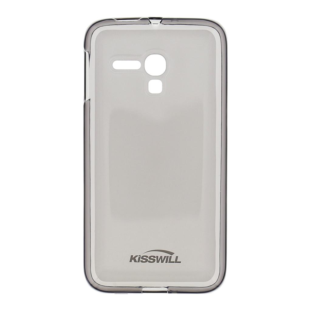 Silikonové pouzdro Kisswill pro mobilní telefon Alcatel One Touch Pop D5 tmavé (Silikonový kryt či obal na mobil Alcatel One Touch Pop D5)