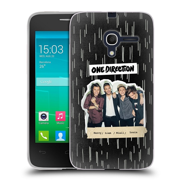 Silikonové pouzdro na mobil Alcatel One Touch Pop D3 HEAD CASE One Direction - Sticker Partička