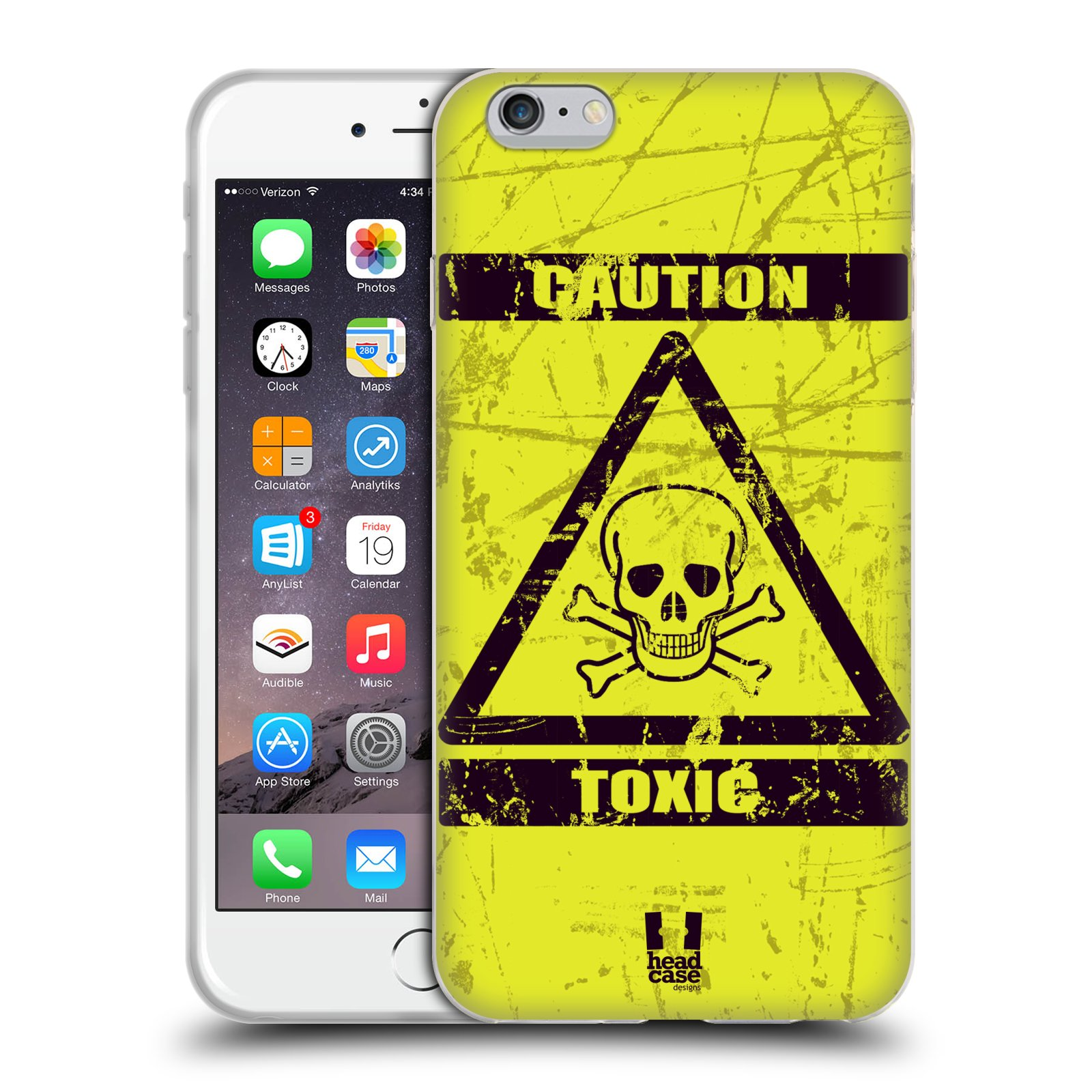 Silikonové pouzdro na mobil Apple iPhone 6 Plus a 6S Plus HEAD CASE Toxic  empty e1445e19537